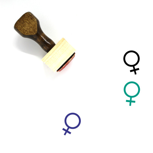 Female Wooden Rubber Stamp No. 143