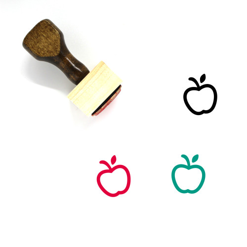 Apple Wooden Rubber Stamp No. 189