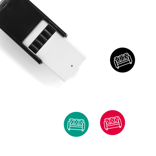 Sofa Self-Inking Rubber Stamp No. 16