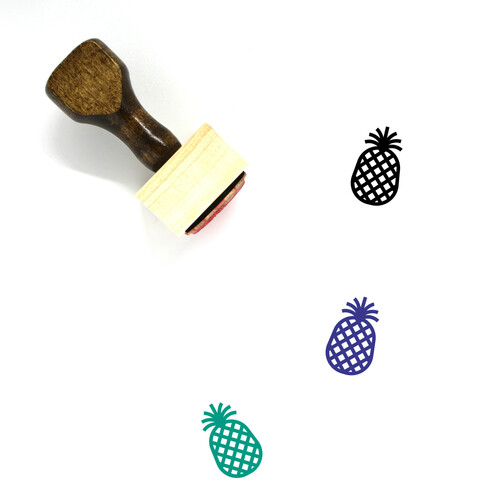 Pineapple Wooden Rubber Stamp No. 34