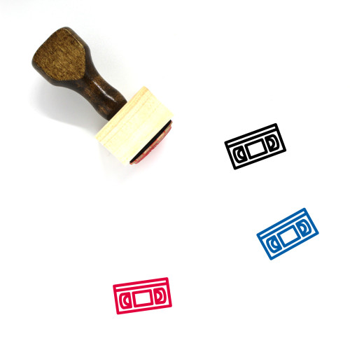 VHS Tape Wooden Rubber Stamp No. 2