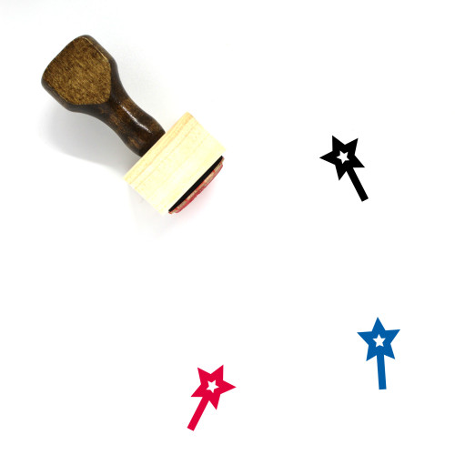 Magic Wand Wooden Rubber Stamp No. 23
