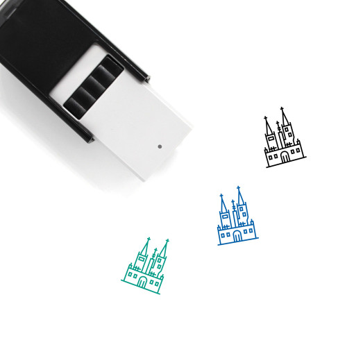 Halloween Castle Self-Inking Rubber Stamp No. 1