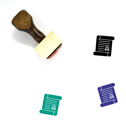 Academic Degree Wooden Rubber Stamp No. 5