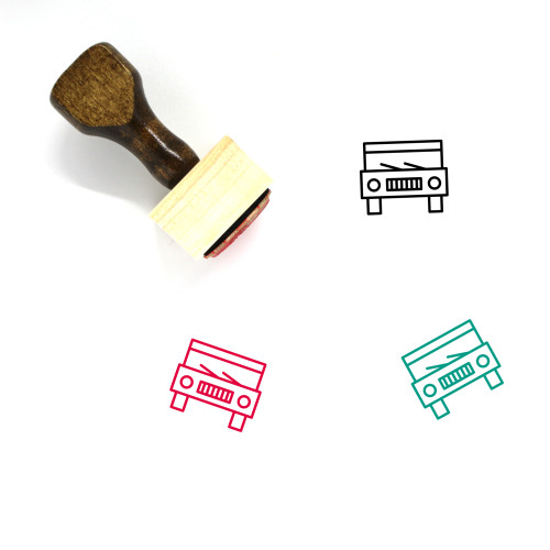 Car Wooden Rubber Stamp No. 199