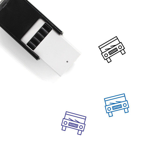 Car Self-Inking Rubber Stamp No. 199