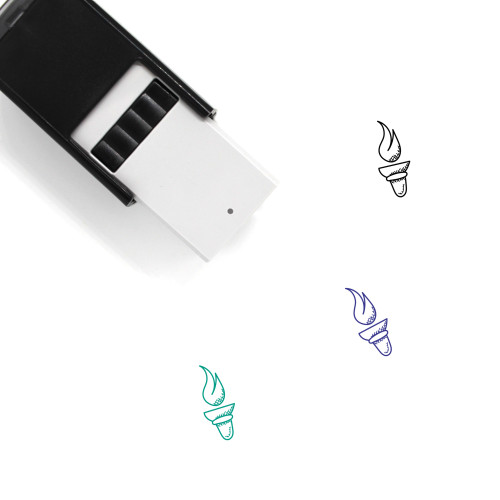 Olympics Torch Self-Inking Rubber Stamp No. 1