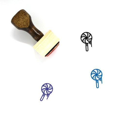 Lollipop Wooden Rubber Stamp No. 50