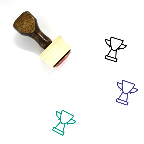 Trophy Wooden Rubber Stamp No. 355