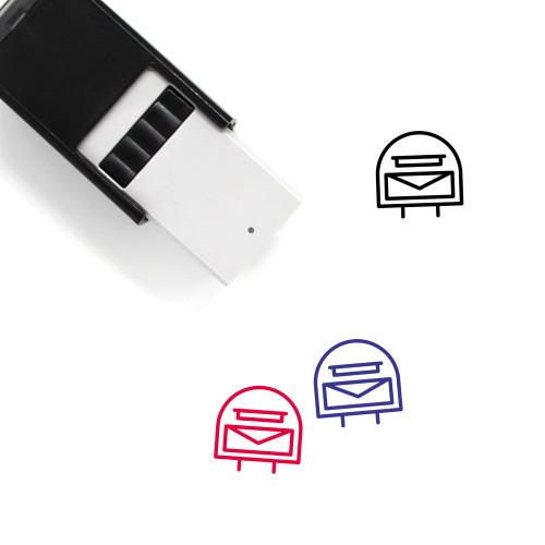 Letter Box Self-Inking Rubber Stamp No. 4