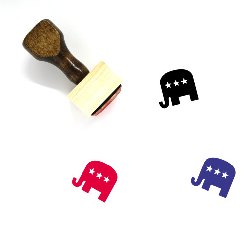 Republican Wooden Rubber Stamp No. 4
