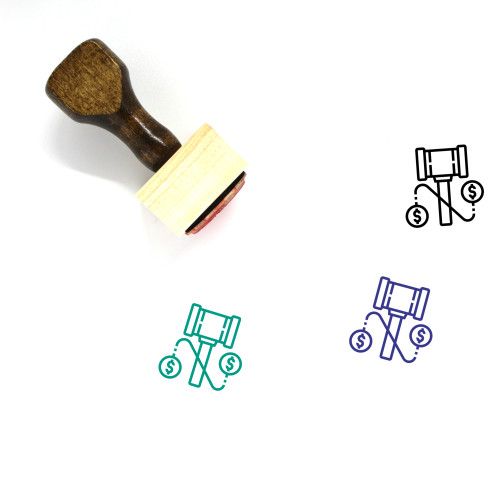 Justice Wooden Rubber Stamp No. 100