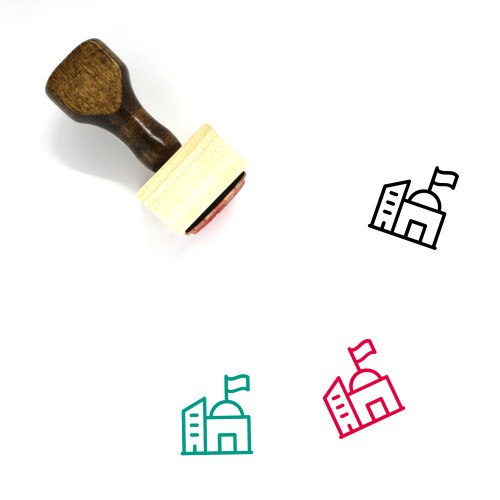 Statehouse Wooden Rubber Stamp No. 2