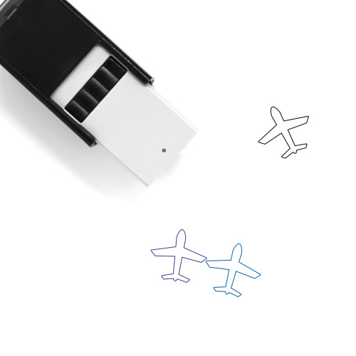 Airplane Self-Inking Rubber Stamp No. 246