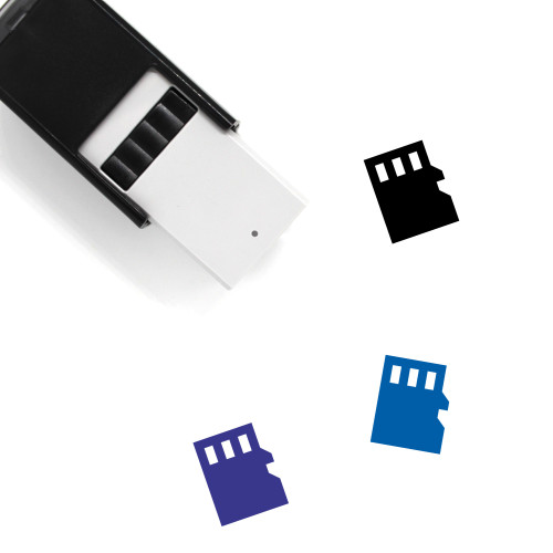 MicroSD Self-Inking Rubber Stamp No. 3