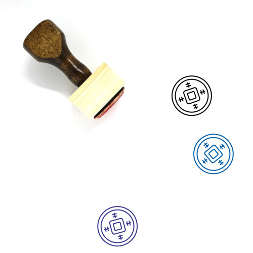Chinese Money Wooden Rubber Stamp No. 1