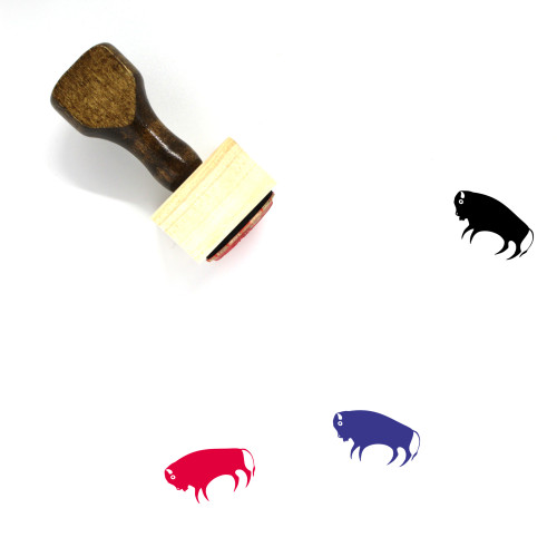 Bison Wooden Rubber Stamp No. 1