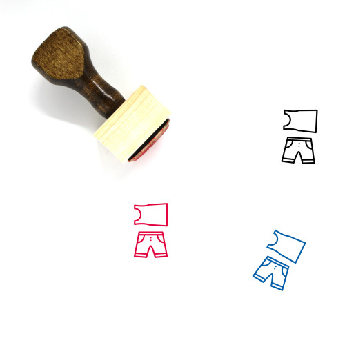 Clothes Wooden Rubber Stamp No. 74
