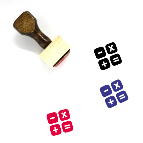 Calculation Wooden Rubber Stamp No. 3