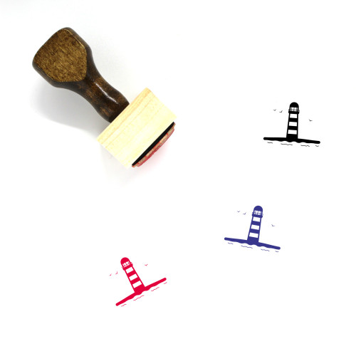Lighthouse Wooden Rubber Stamp No. 119