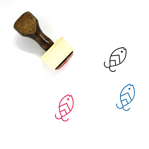 Fishing Lure Wooden Rubber Stamp No. 3