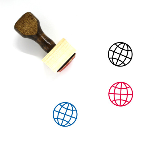 Globe Wooden Rubber Stamp No. 206