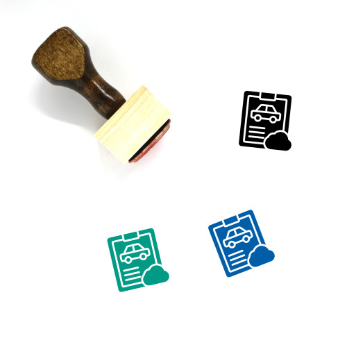 Add To Cloud Wooden Rubber Stamp No. 6