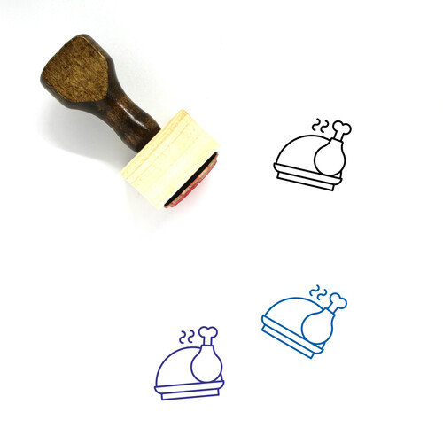 Feast Wooden Rubber Stamp No. 2