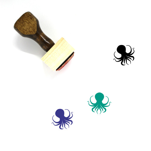 Octopus Wooden Rubber Stamp No. 2