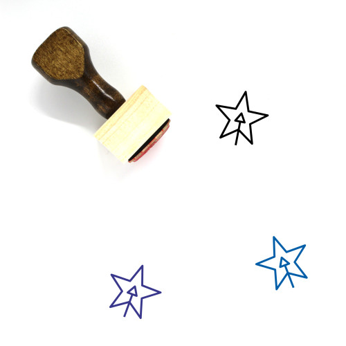 Add Shape Layer Wooden Rubber Stamp No. 1