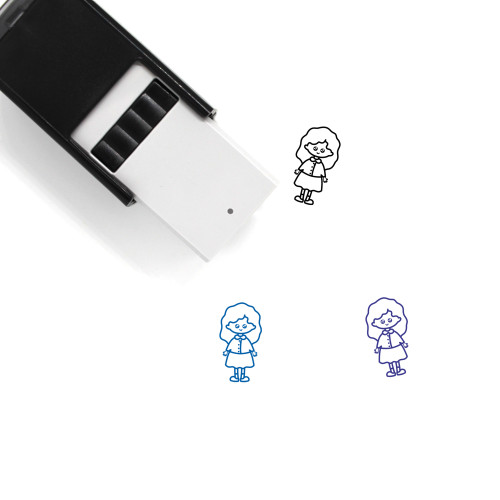 Girl Student Self-Inking Rubber Stamp No. 1