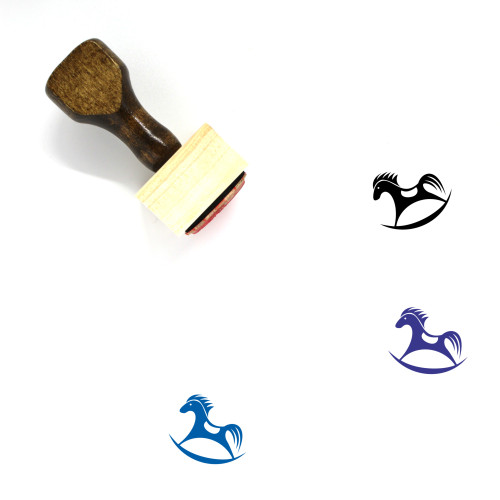Rocking Horse Wooden Rubber Stamp No. 4