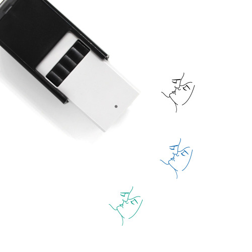 Kiss Couple Self-Inking Rubber Stamp No. 1