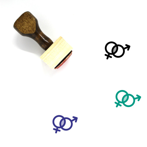 Gender Equality Wooden Rubber Stamp No. 26