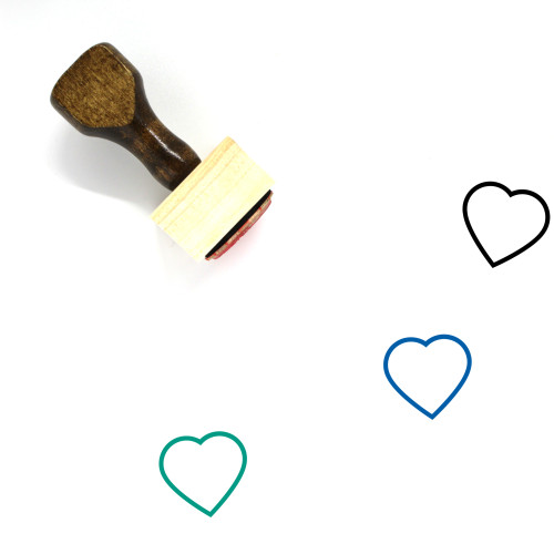 Heart Wooden Rubber Stamp No. 1373