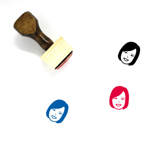 Woman Wooden Rubber Stamp No. 64