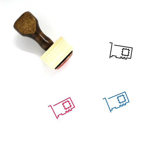 Audio Card Wooden Rubber Stamp No. 2