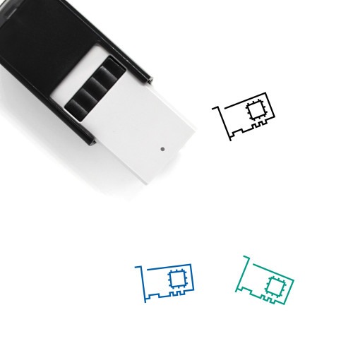 Audio Card Self-Inking Rubber Stamp No. 2