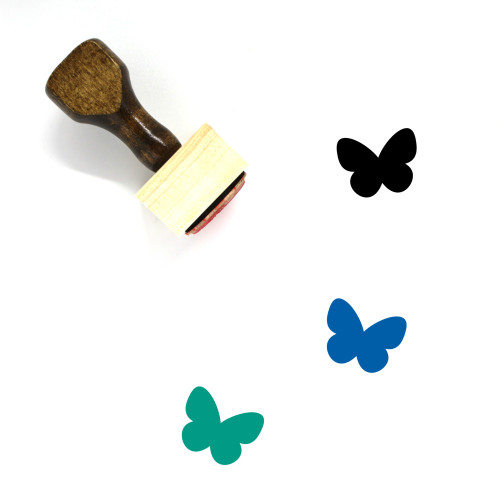 Butterfly Wooden Rubber Stamp No. 47
