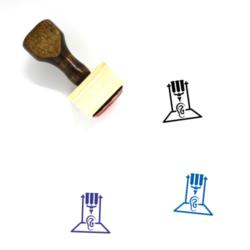 3D Organ Printing Wooden Rubber Stamp No. 11