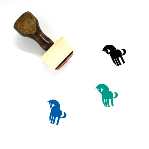 Horse Wooden Rubber Stamp No. 84