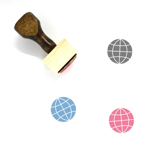 Globe Wooden Rubber Stamp No. 1151
