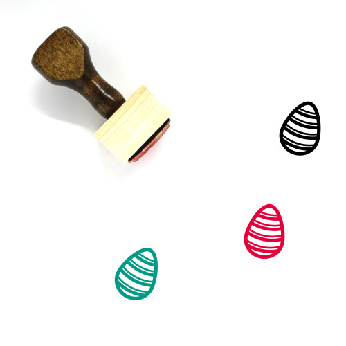 Easter Egg Wooden Rubber Stamp No. 35