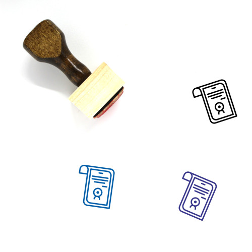 Degree Wooden Rubber Stamp No. 10