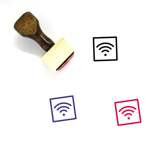Wifi Wooden Rubber Stamp No. 86