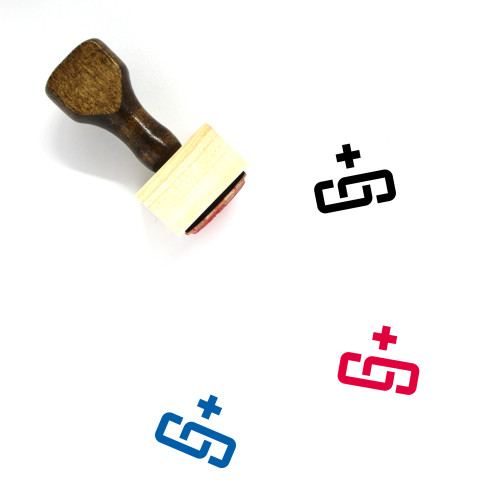 Add Link Wooden Rubber Stamp No. 12