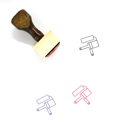Paint Brushes Wooden Rubber Stamp No. 13