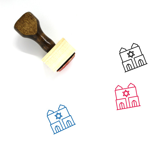 Synagogue Wooden Rubber Stamp No. 11