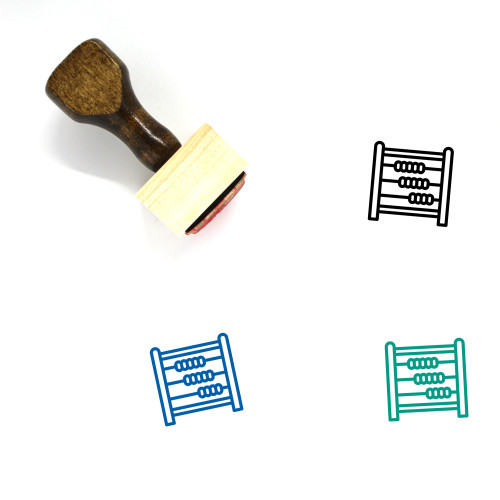 Abacus Wooden Rubber Stamp No. 12