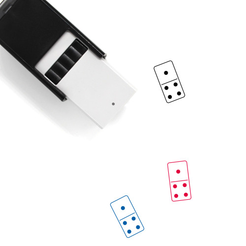 Domino Self-Inking Rubber Stamp No. 108